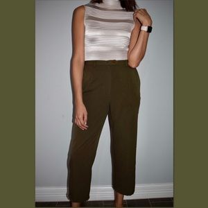 90's olive green trousers